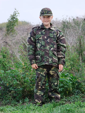 Childrens camouflage combat jacket.