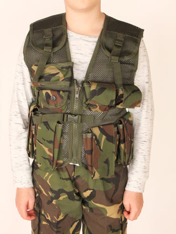 Childrens camouflage assault vest
