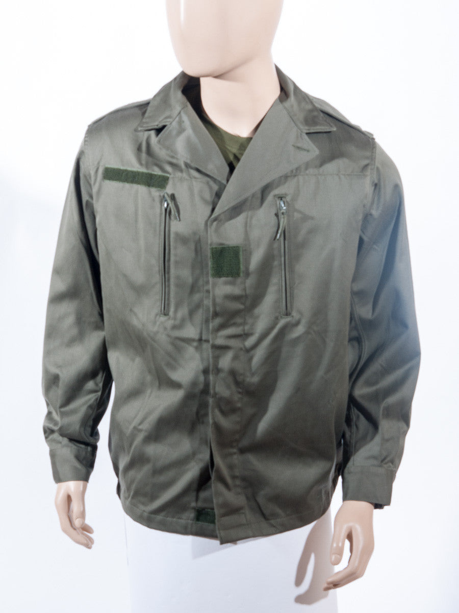 French olive jacket