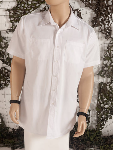 White naval shirt