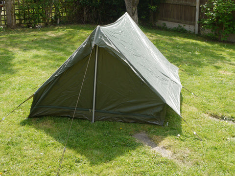 Army surplus french two man, two door tent.