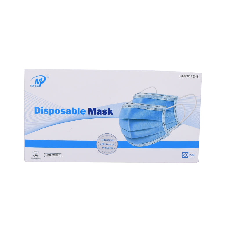 50 PCS Disposable Face Mask 3-Ply Non Medical
