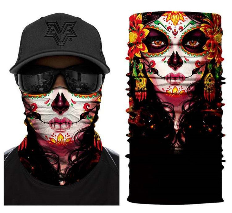 Original4u Neck Gaiter Breathable Face Cover Bandana Face Mask for Men Women 3D Print Head Wrap Scarf Headwear Multi-Purpose