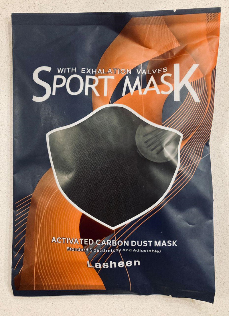 2 Pack - Dual Air Valve Cycling Sport Face Mask Cover PM2.5 Carbon Filter - Reusable & Washable - Black - Shipping from U.S.