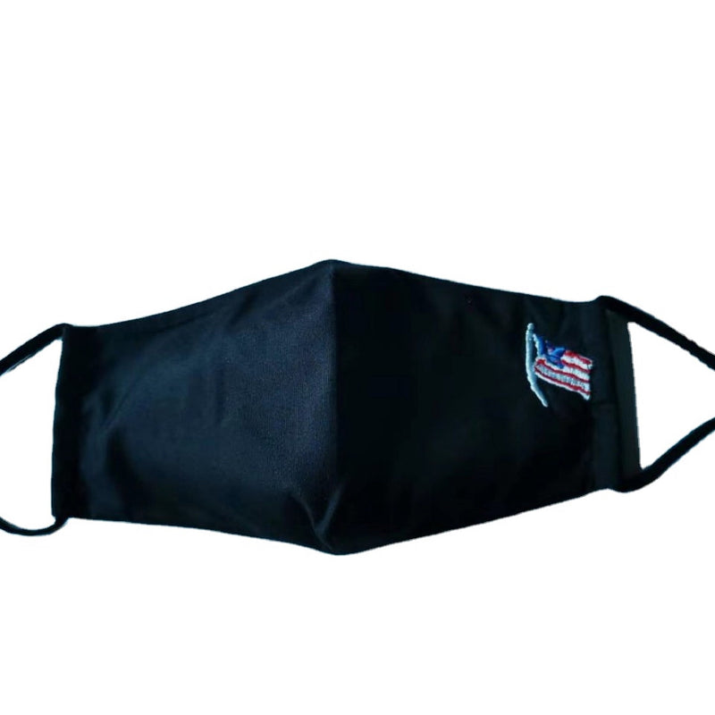 American Flag embroidered Face Mask For Adults unisex - Reusable & Washable - 100% Catton with Filter Pocket + 1 Free Filter