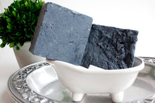Load image into Gallery viewer, Men's Soap - Exfoliating - Salt Scrub Bar - Sea Salt - Activated Charcoal - Sensitive Skin - Dry Skin