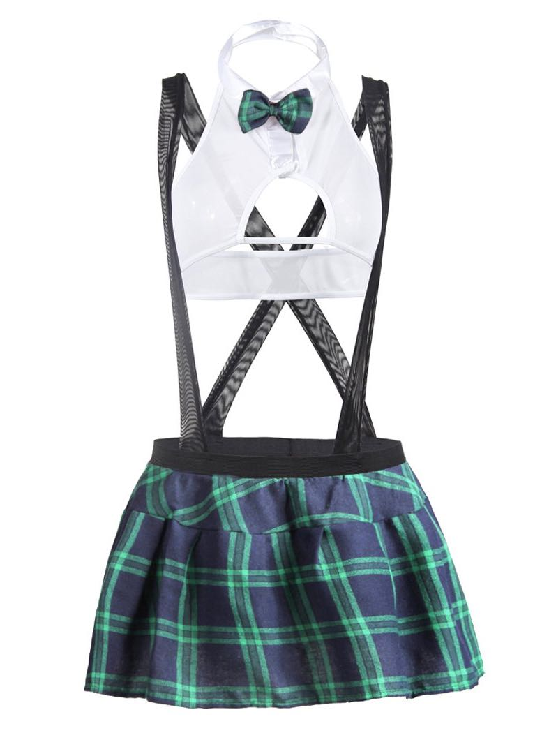 Women's Plaid Skirt With Halter