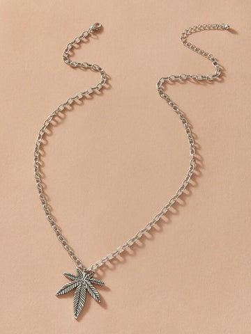 1pc Maple Leaf Charm Necklace