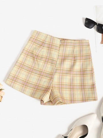 Plaid Overlap Shorts