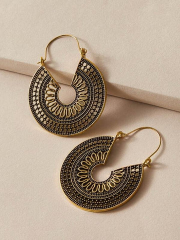 1pair Bohemian Hollow Out Drop Earrings - INS | Online Fashion Free Shipping Clothing, Dresses, Tops, Shoes
