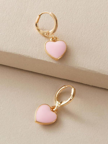 1pair Heart Drop Ear Cuff - INS | Online Fashion Free Shipping Clothing, Dresses, Tops, Shoes
