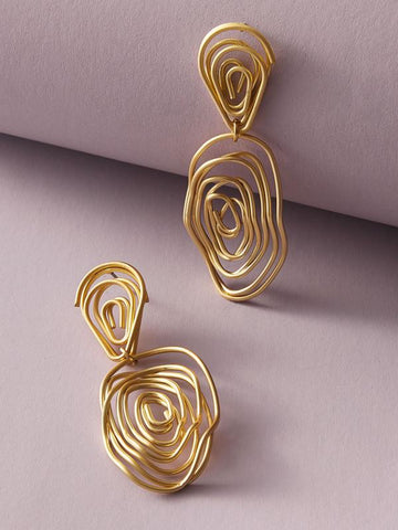 1pair Line Twist Drop Earrings - INS | Online Fashion Free Shipping Clothing, Dresses, Tops, Shoes