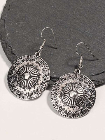 1pair Tribal Round Drop Earrings - INS | Online Fashion Free Shipping Clothing, Dresses, Tops, Shoes