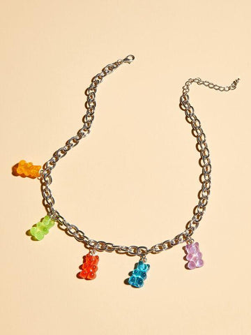 1pc Bear Charm Necklace - INS | Online Fashion Free Shipping Clothing, Dresses, Tops, Shoes