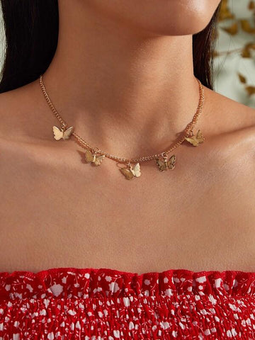 1pc Butterfly Charm Necklace - INS | Online Fashion Free Shipping Clothing, Dresses, Tops, Shoes