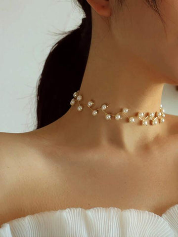 1pc Pearl Design Choker - INS | Online Fashion Free Shipping Clothing, Dresses, Tops, Shoes