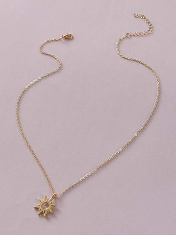 1pc Sun Charm Necklace - INS | Online Fashion Free Shipping Clothing, Dresses, Tops, Shoes