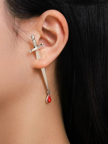 1pc Sword Design Earring Jacket - INS | Online Fashion Free Shipping Clothing, Dresses, Tops, Shoes