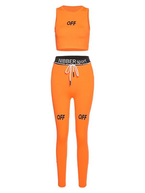 Ladies Sports Letter Style Suit