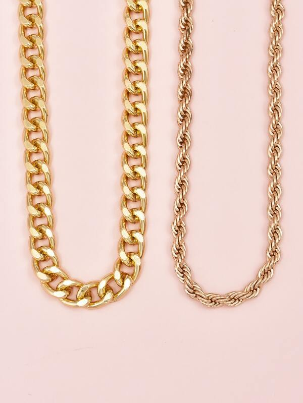 2pcs Simple Chain Necklace - INS | Online Fashion Free Shipping Clothing, Dresses, Tops, Shoes