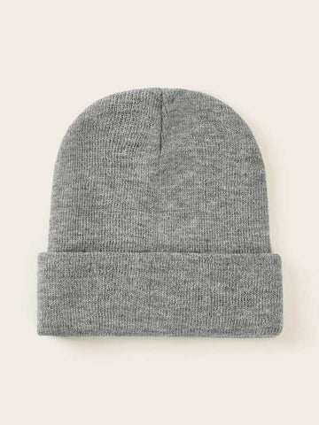2pcs Solid Cuffed Knit Beanie - INS | Online Fashion Free Shipping Clothing, Dresses, Tops, Shoes