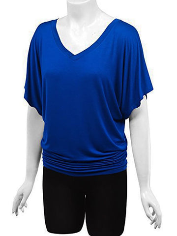 Women's V Neck Leisure Puls Size T Shirt