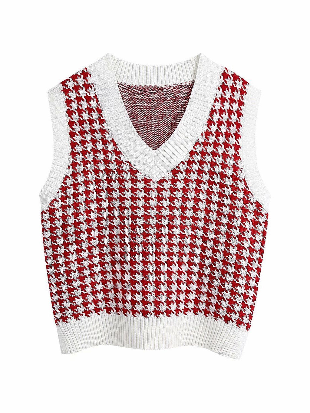Age Reduction V-Neck Sleeveless Twist Knit Waistcoat Women - INS | Online Fashion Free Shipping Clothing, Dresses, Tops, Shoes