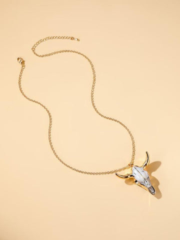 Animal Head Charm Necklace - INS | Online Fashion Free Shipping Clothing, Dresses, Tops, Shoes