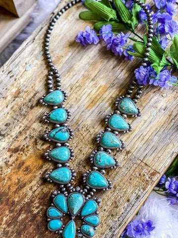 AUTHENTIC TURQUOISE STONE - CHATA NECKLACE - INS | Online Fashion Free Shipping Clothing, Dresses, Tops, Shoes