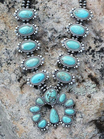 AUTHENTIC TURQUOISE STONE - ORION NECKLACE - INS | Online Fashion Free Shipping Clothing, Dresses, Tops, Shoes