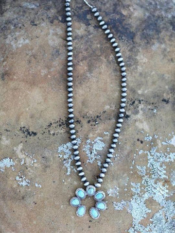 AUTHENTIC TURQUOISE STONE - RIVER ROLL NECKLACE - INS | Online Fashion Free Shipping Clothing, Dresses, Tops, Shoes