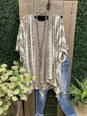 Autumn 2021 Fashion Snake Print Kimono - INS | Online Fashion Free Shipping Clothing, Dresses, Tops, Shoes