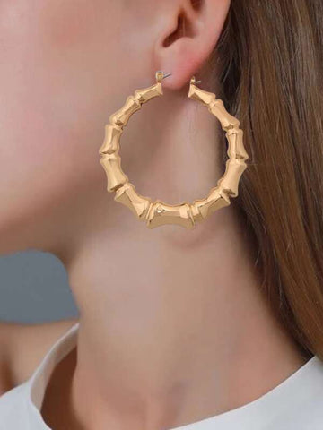 Bamboo Joint Hoop Earrings - INS | Online Fashion Free Shipping Clothing, Dresses, Tops, Shoes
