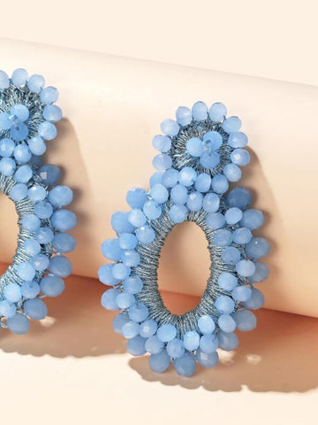 Beaded Round Drop Earrings - INS | Online Fashion Free Shipping Clothing, Dresses, Tops, Shoes