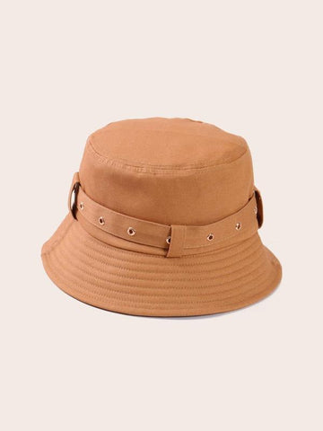 Belt Decor Bucket Hat - INS | Online Fashion Free Shipping Clothing, Dresses, Tops, Shoes