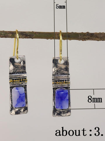 Blue Alloy Earrings - INS | Online Fashion Free Shipping Clothing, Dresses, Tops, Shoes
