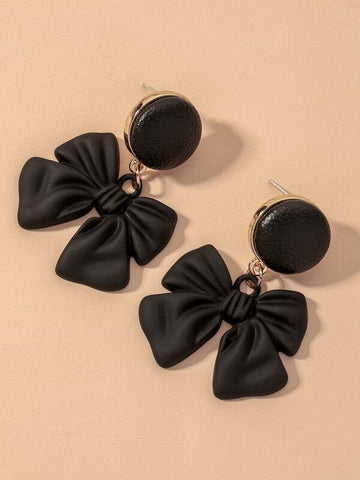 Bow Charm Drop Earrings - INS | Online Fashion Free Shipping Clothing, Dresses, Tops, Shoes