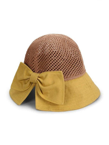 Bowknot Colorblock Bucket Hat - INS | Online Fashion Free Shipping Clothing, Dresses, Tops, Shoes