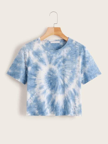 Boxy Tie-Dye Wash Tee - INS | Online Fashion Free Shipping Clothing, Dresses, Tops, Shoes