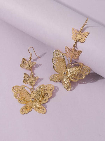 Butterfly Charm Drop Earrings - INS | Online Fashion Free Shipping Clothing, Dresses, Tops, Shoes