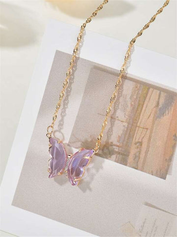 Butterfly Decor Necklace - INS | Online Fashion Free Shipping Clothing, Dresses, Tops, Shoes
