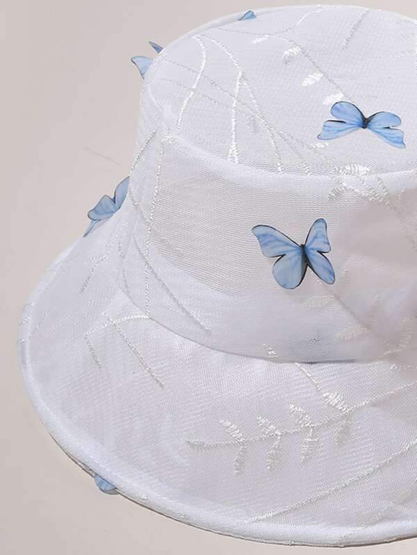 Butterfly Pattern Bucket Hat - INS | Online Fashion Free Shipping Clothing, Dresses, Tops, Shoes