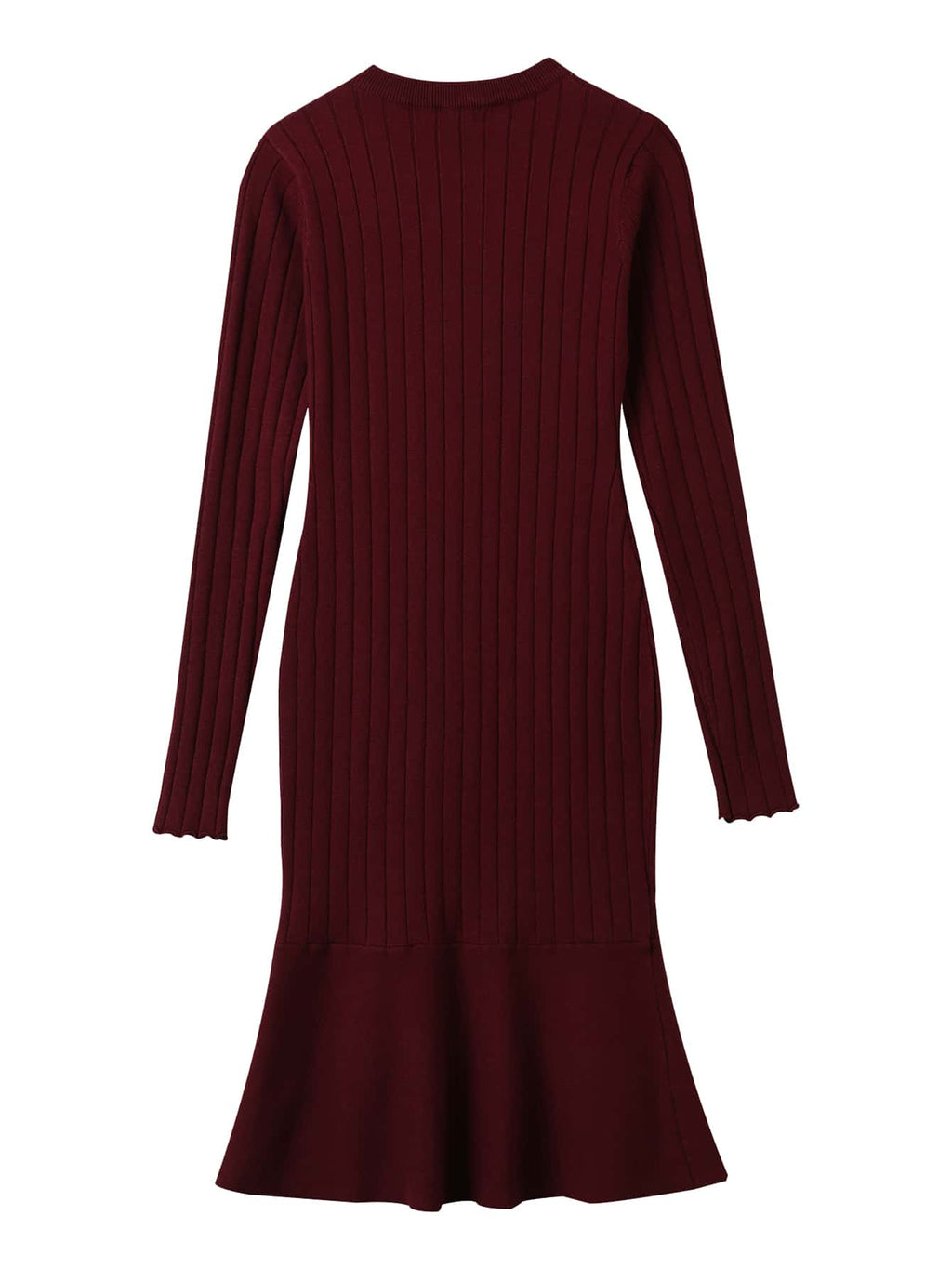 Button Front Slim Fit Mermaid Sweater Dress - INS | Online Fashion Free Shipping Clothing, Dresses, Tops, Shoes