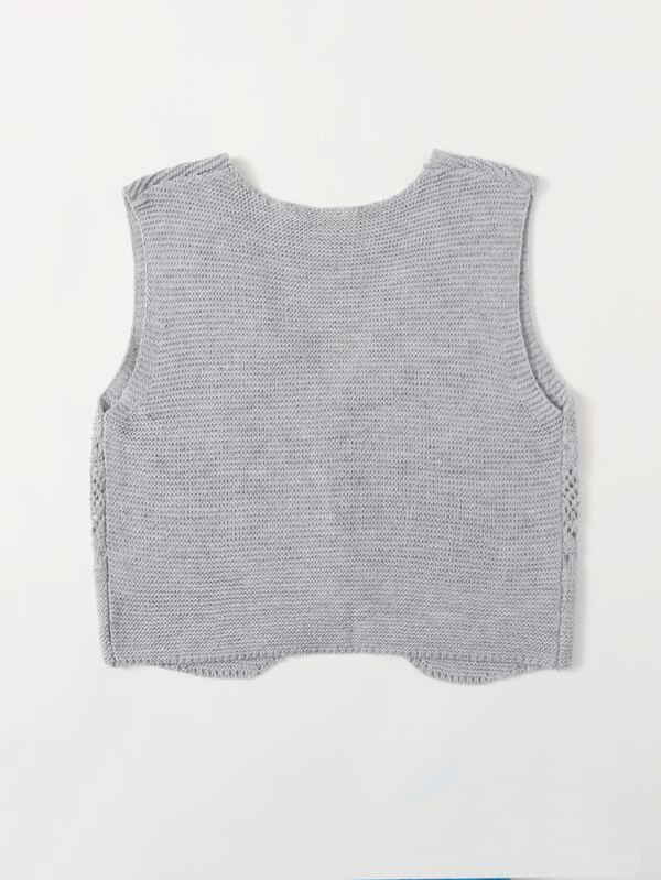 Button Front Vest Cardigan - INS | Online Fashion Free Shipping Clothing, Dresses, Tops, Shoes