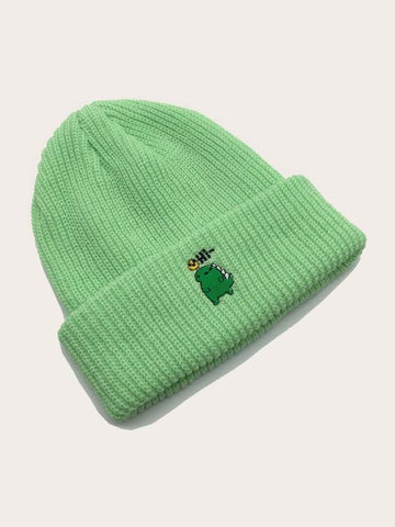 Cartoon Embroidered Beanie - INS | Online Fashion Free Shipping Clothing, Dresses, Tops, Shoes
