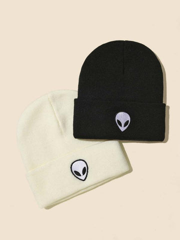 Cartoon Embroidery Beanie - INS | Online Fashion Free Shipping Clothing, Dresses, Tops, Shoes