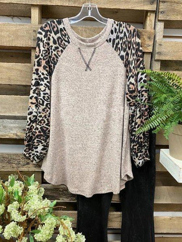 Casual Leopard Sweatshirt - INS | Online Fashion Free Shipping Clothing, Dresses, Tops, Shoes