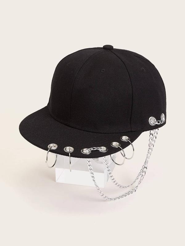 Chain & Ring Decor Baseball Cap - INS | Online Fashion Free Shipping Clothing, Dresses, Tops, Shoes