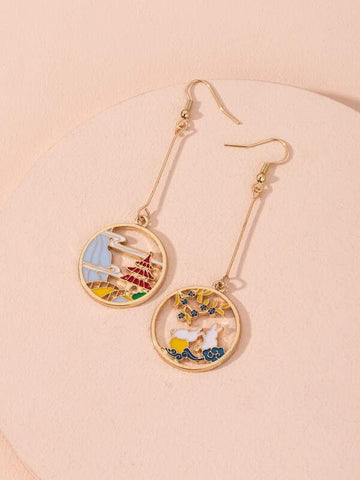 Chinese Style Charm Drop Earrings - INS | Online Fashion Free Shipping Clothing, Dresses, Tops, Shoes