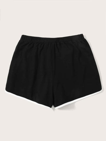 Contrast Binding Dolphin Shorts - INS | Online Fashion Free Shipping Clothing, Dresses, Tops, Shoes
